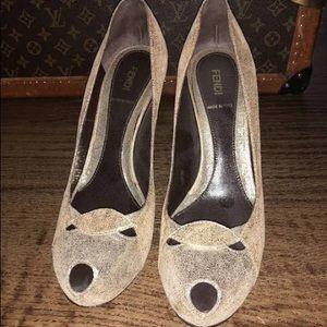 Gorgeous Fendi peep toe pumps